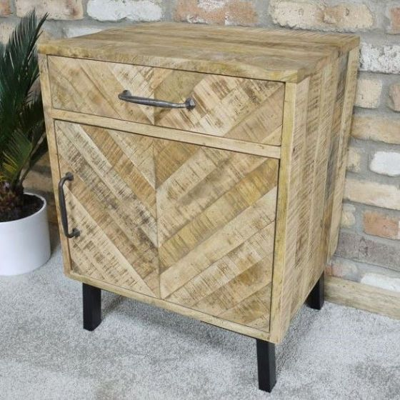 Cheveron Bedside Cabinet - Special Order